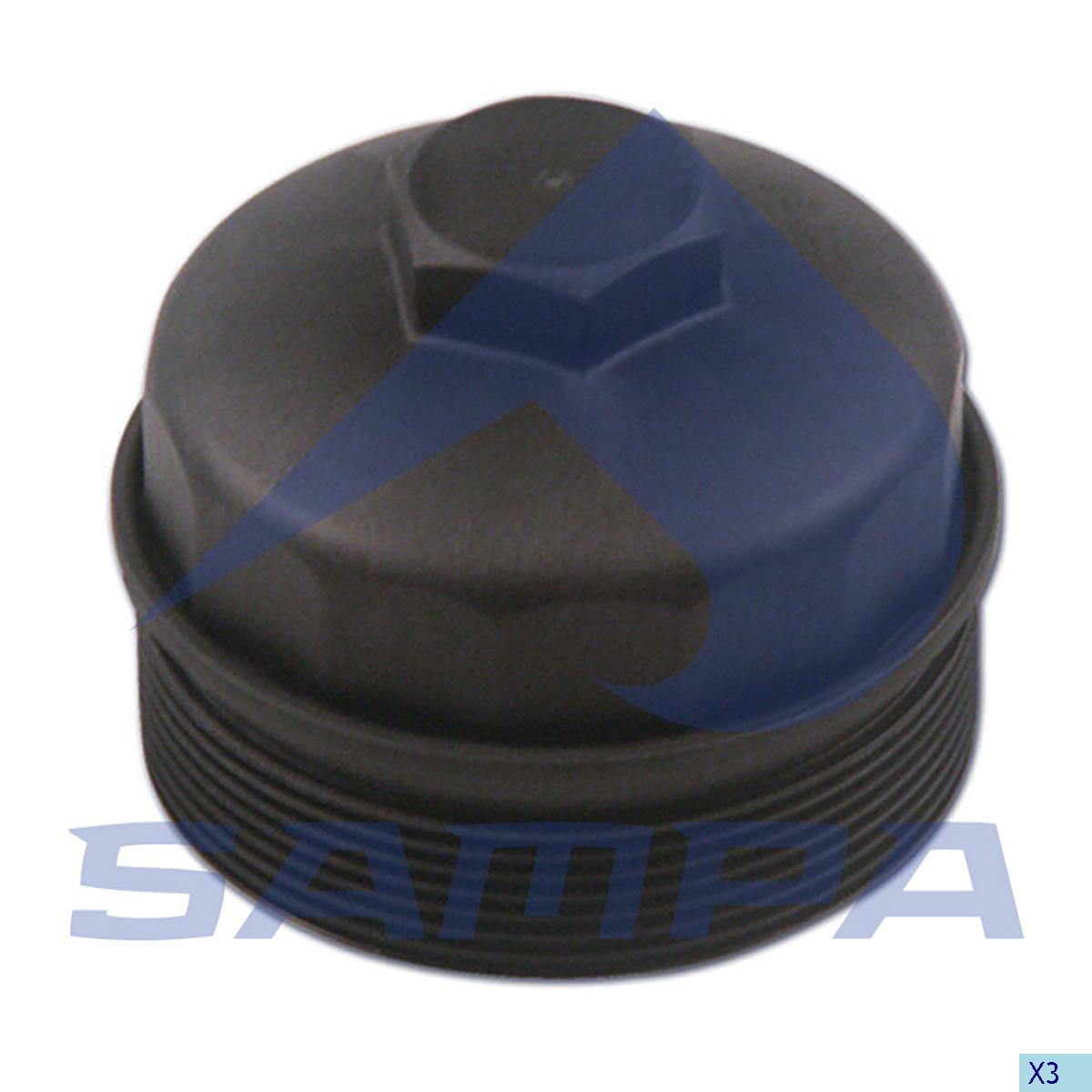 Cover, Oil Filter, Mercedes, Engine