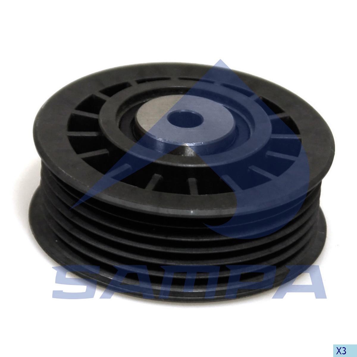 Tension Roller, Fan, Mercedes, Engine