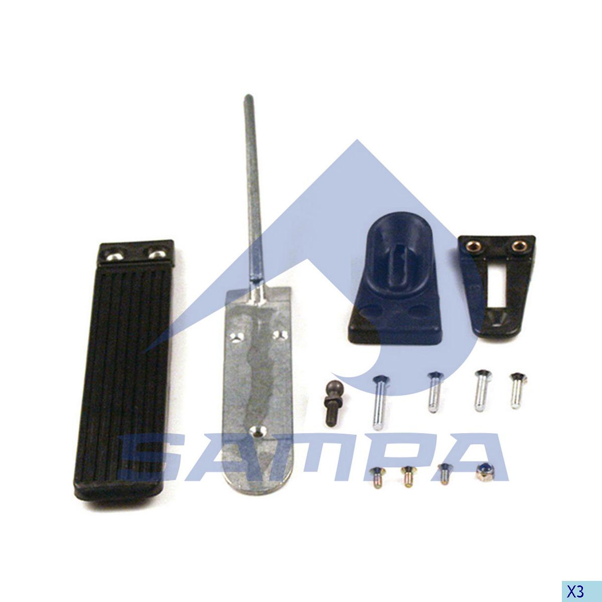 Repair Kit, Accelerator Pedal, Mercedes, Engine