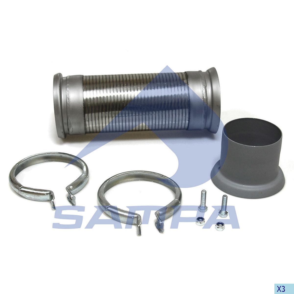 Repair Kit, Exhaust, Mercedes, Engine