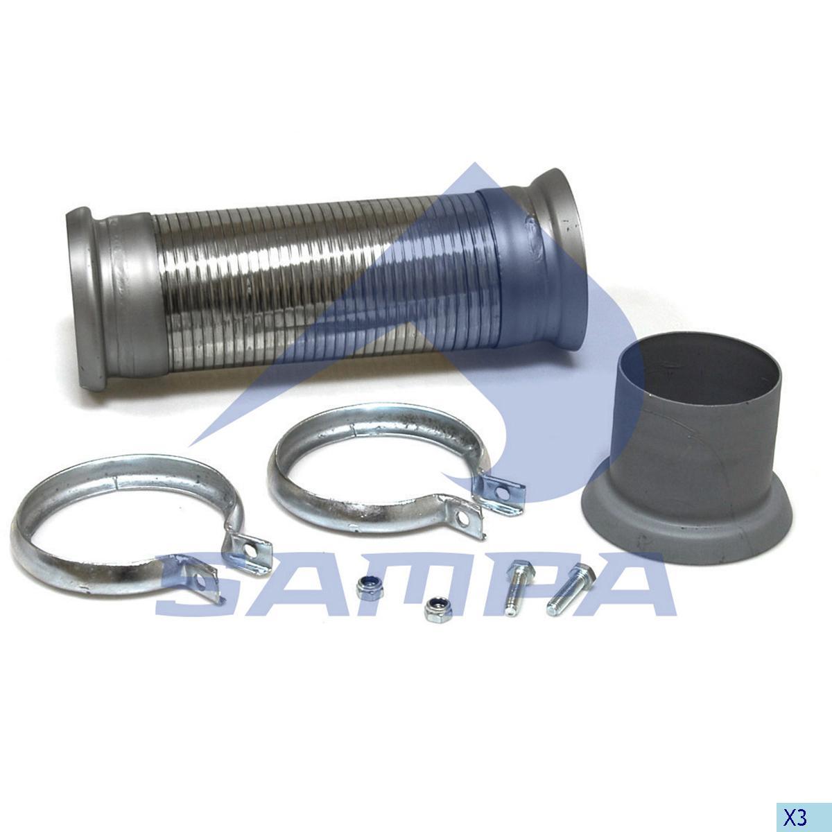 Repair Kit, Exhaust, Mercedes, Engine