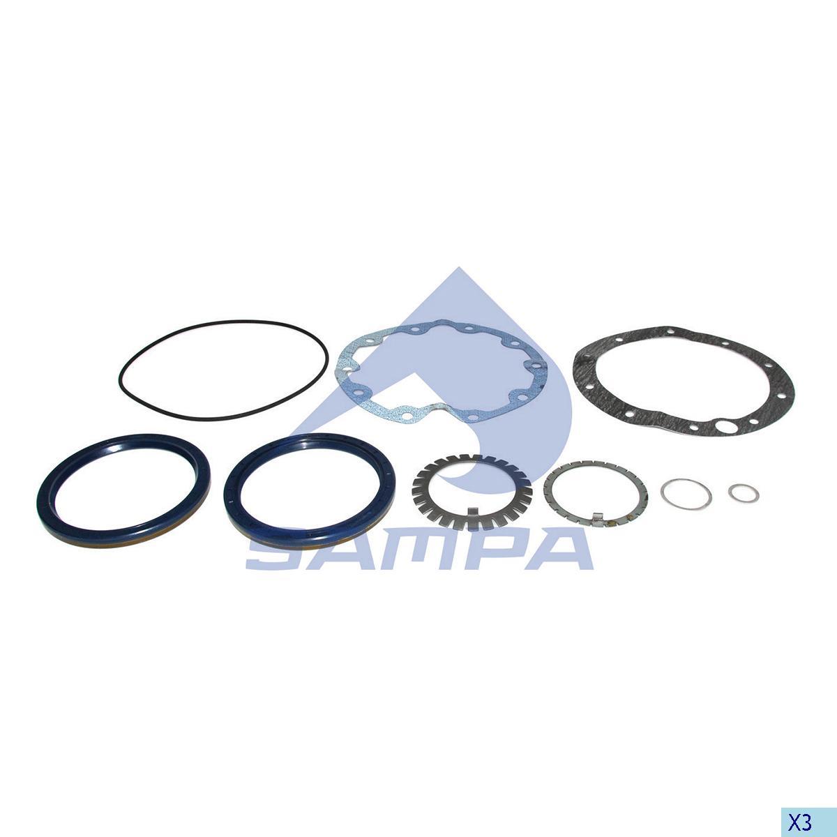 Repair Kit, Wheel Hub, Mercedes, Power Unit