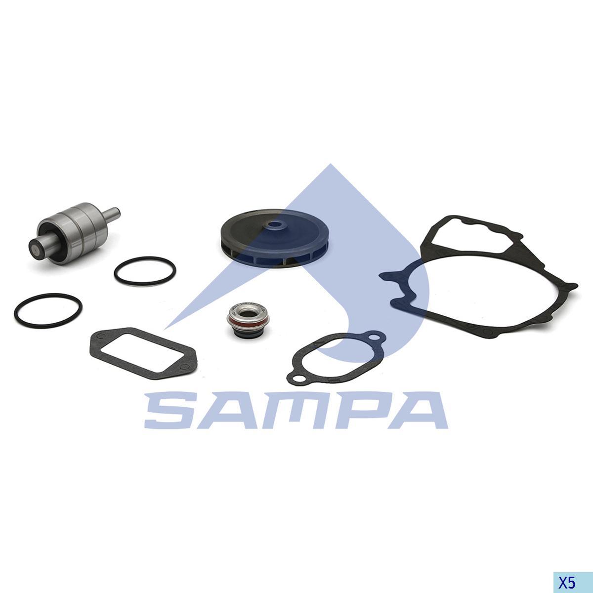 Repair Kit, Water Pump, Mercedes, Engine