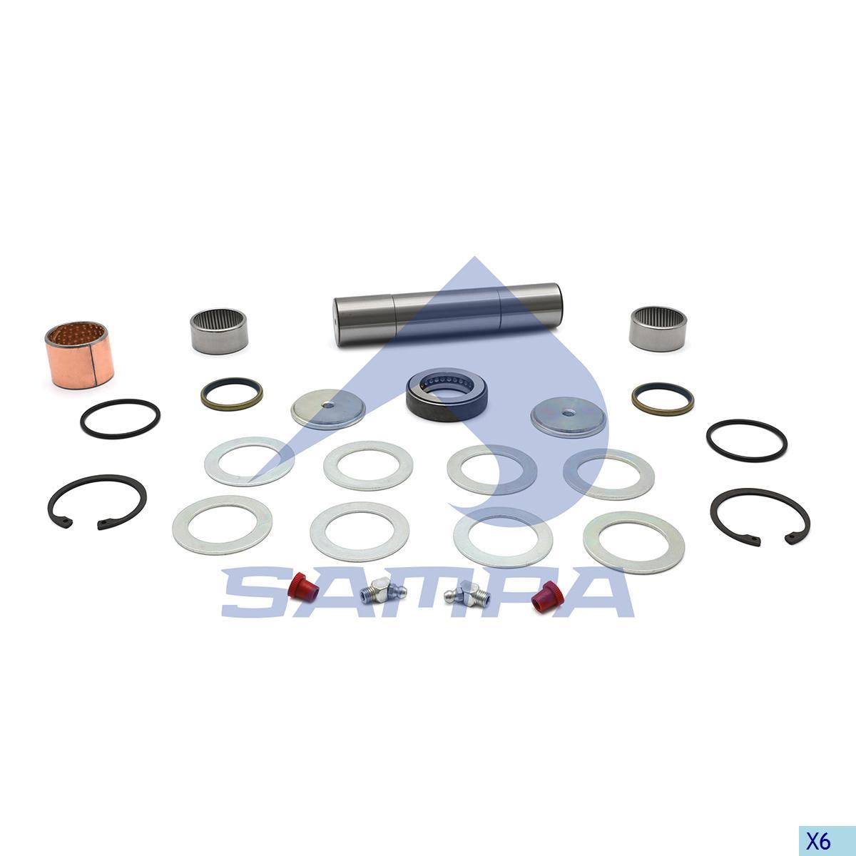 King Pin Kit, Axle Steering Knuckle, Man, Power Unit