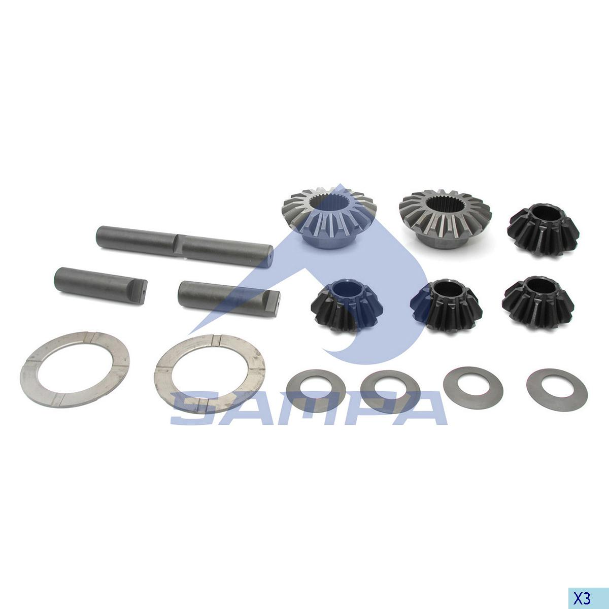 Repair Kit, Differential, Man, Power Unit