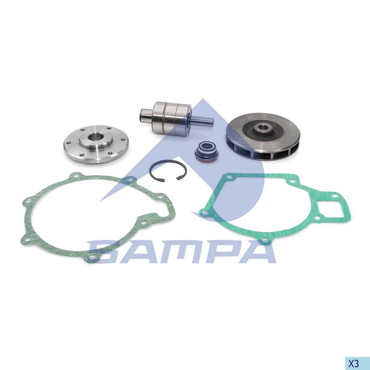 Repair Kit, Water Pump, Man, Engine