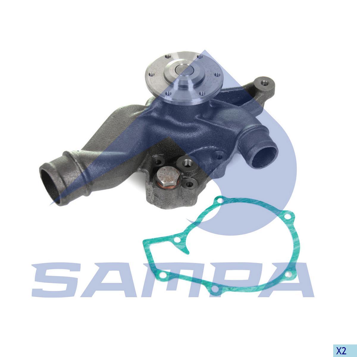 Water Pump, Man, Engine