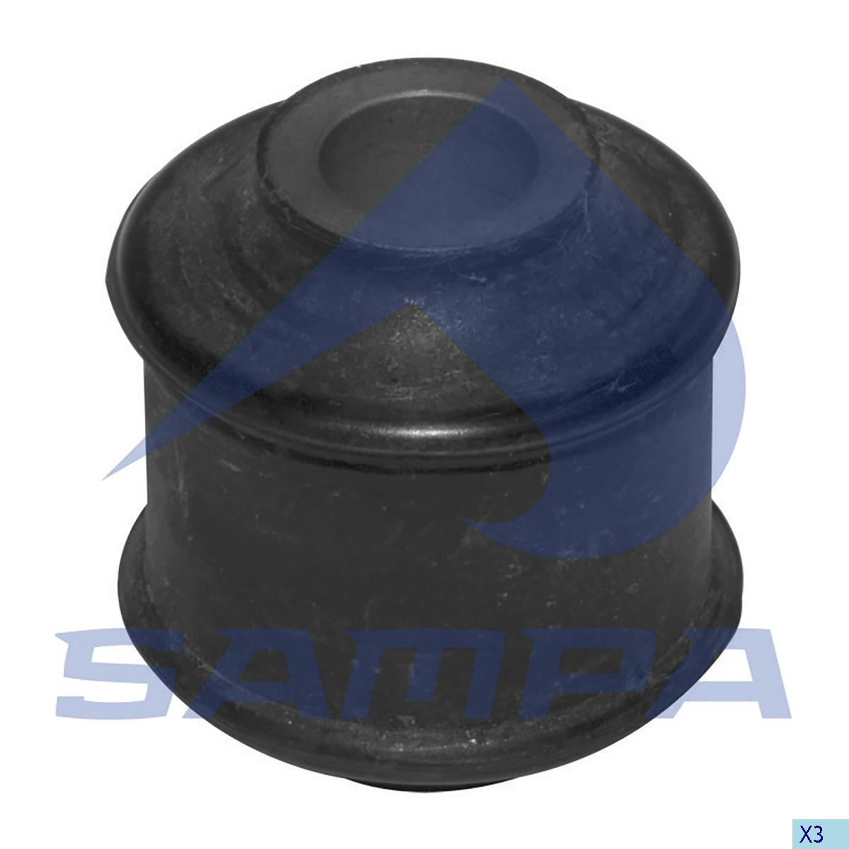 Rubber Bushing, Shock Absorber, Mercedes, Suspension