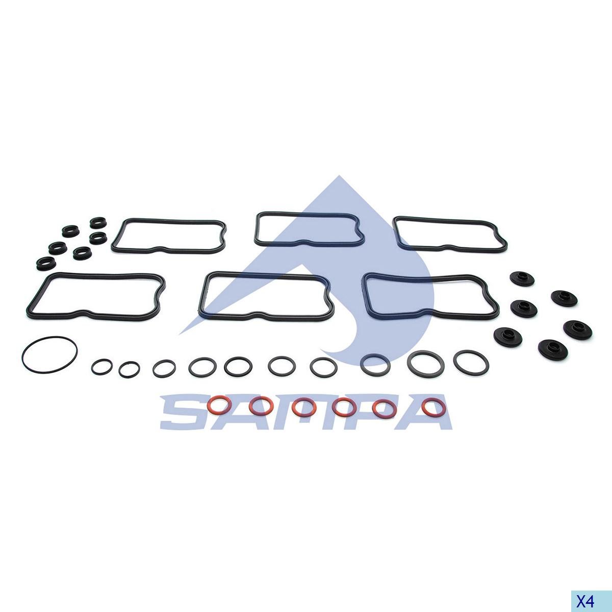 Repair Kit, Rocker Cover, Volvo, Engine