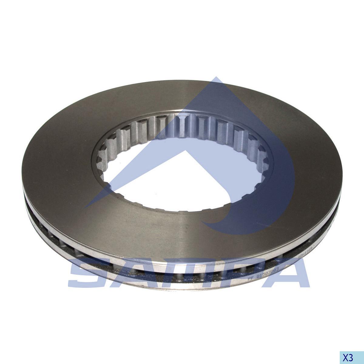 Brake Disc, Volvo, Brake