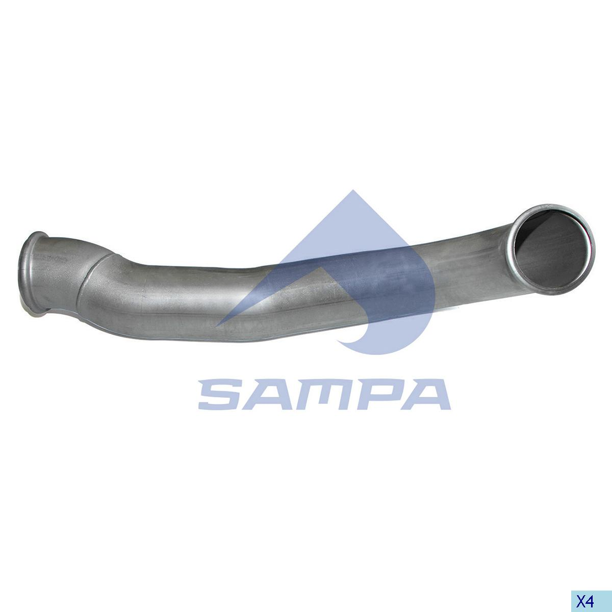 Pipe, Exhaust, Volvo, Engine
