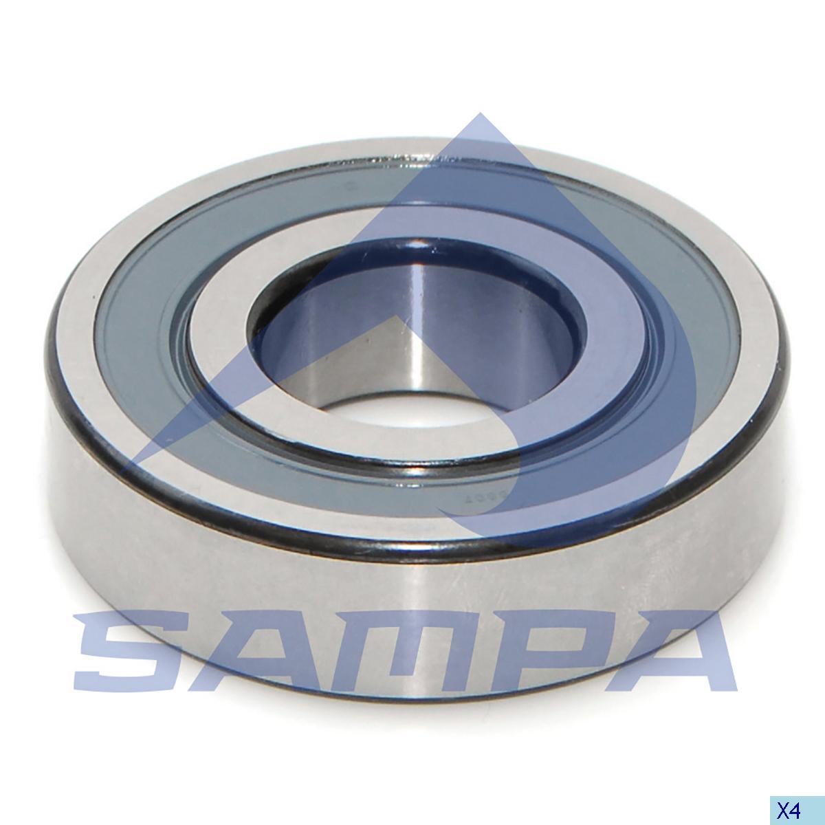 Bearing, Flywheel, Volvo, Engine