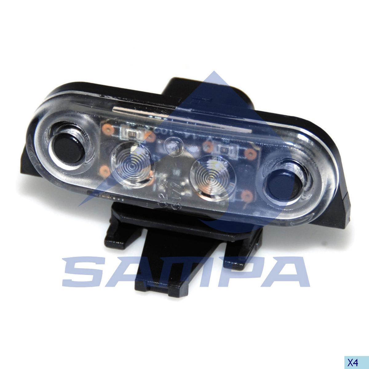 Lamp, Sun Visor, Volvo, Cab