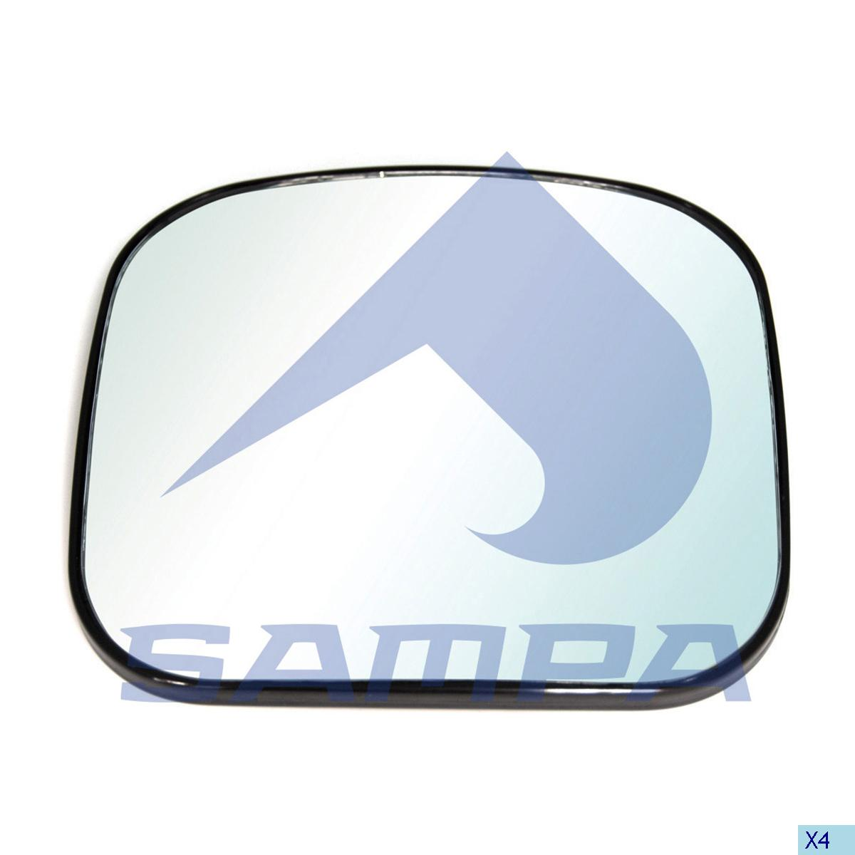 Mirror Glass, Volvo, Cab
