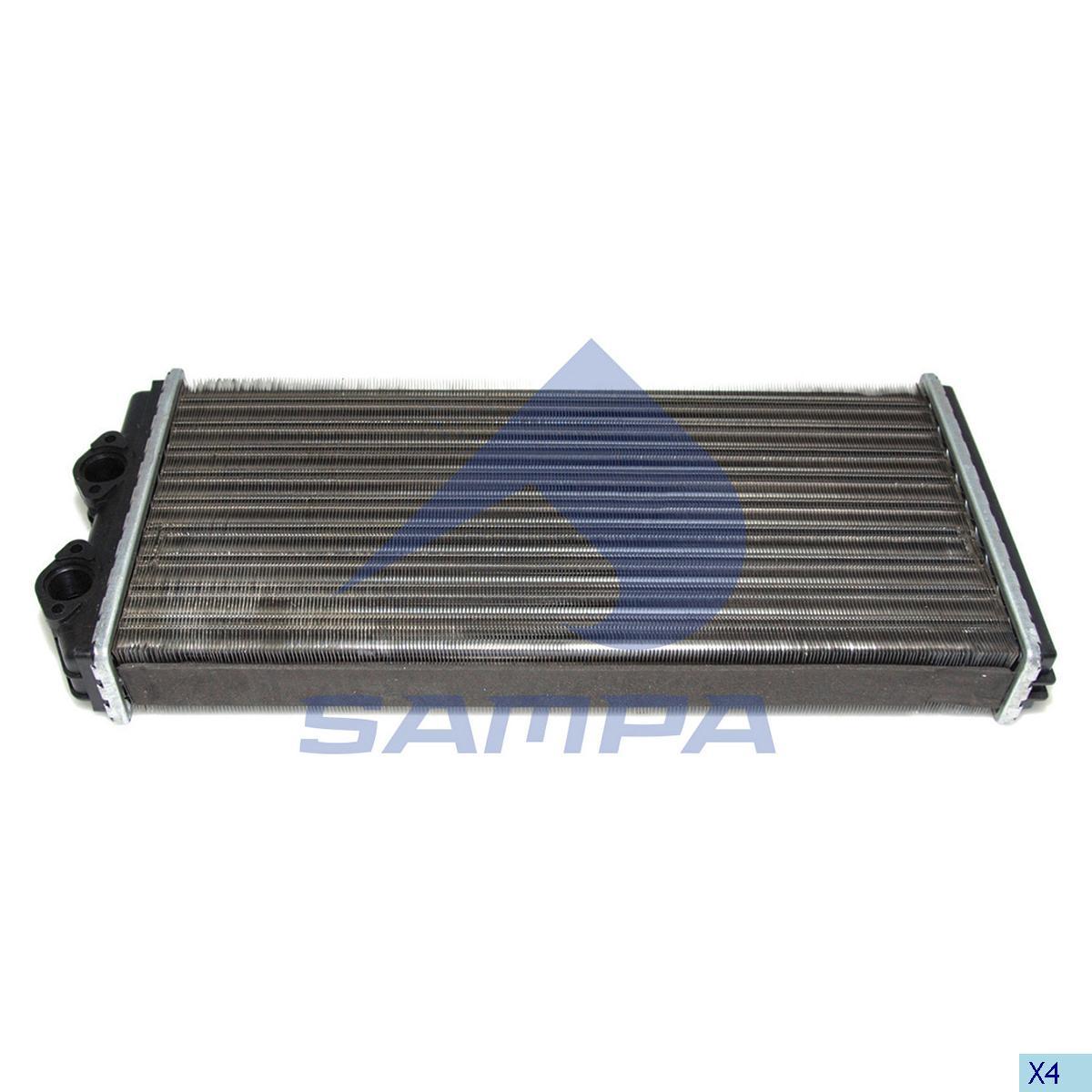 Heater Radiator, Cab Heating & Ventilation, Volvo, Cab