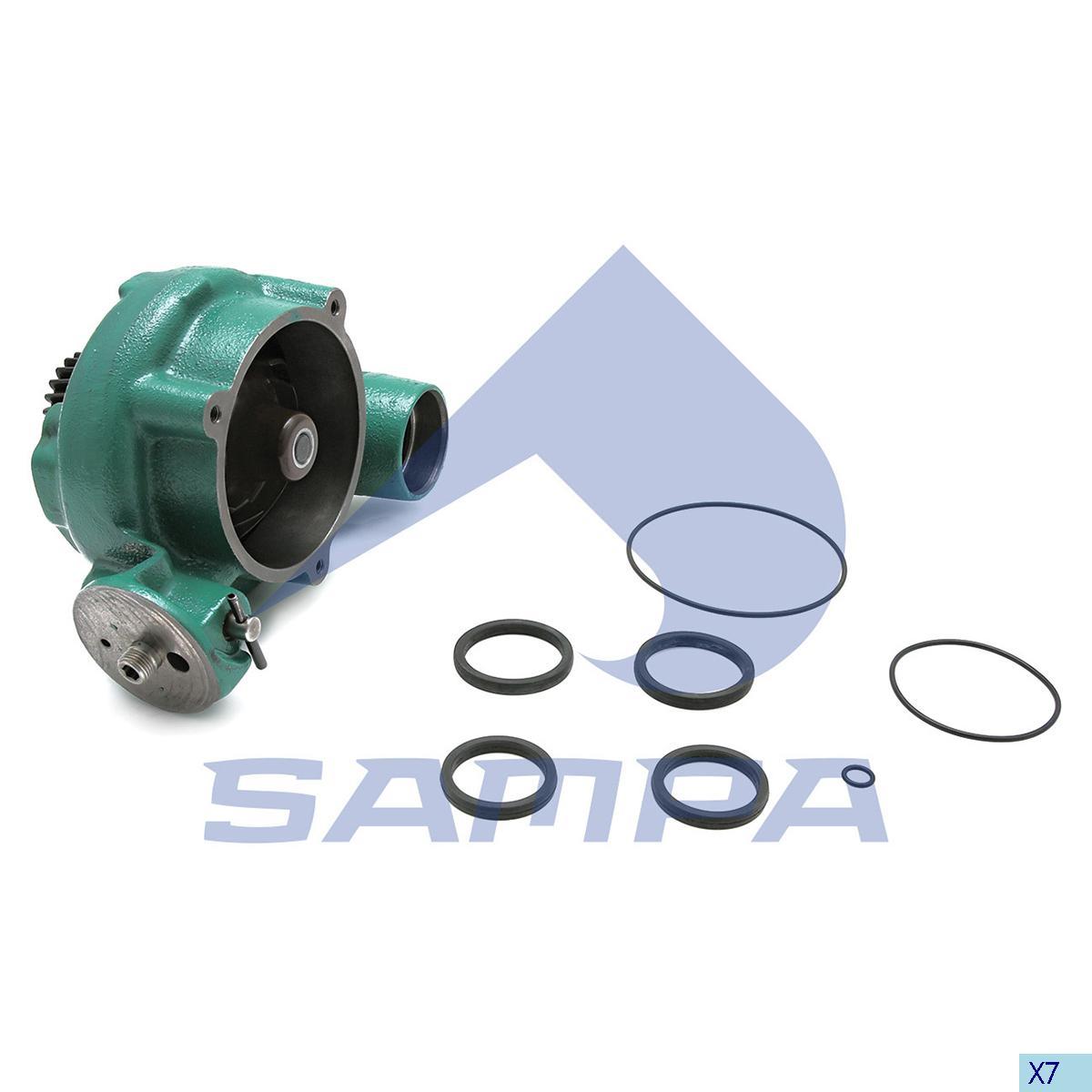 Water Pump, Volvo, Engine