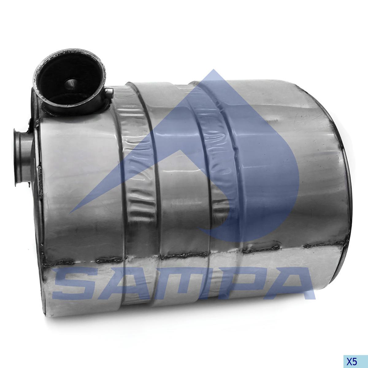 Silencer, Exhaust, Volvo, Engine