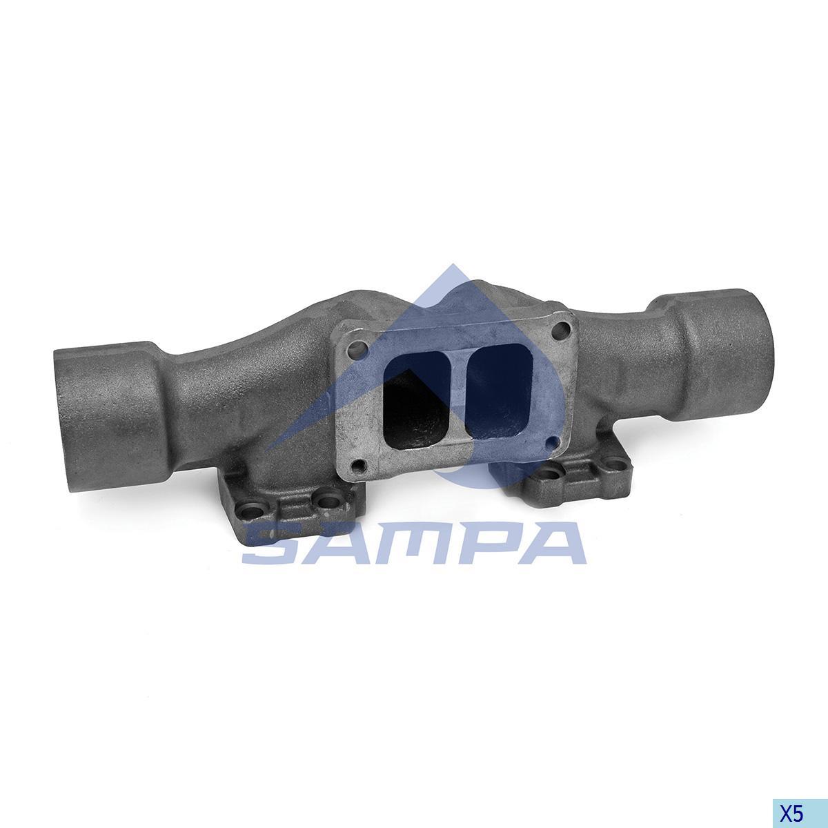 Exhaust Manifold, Volvo, Engine