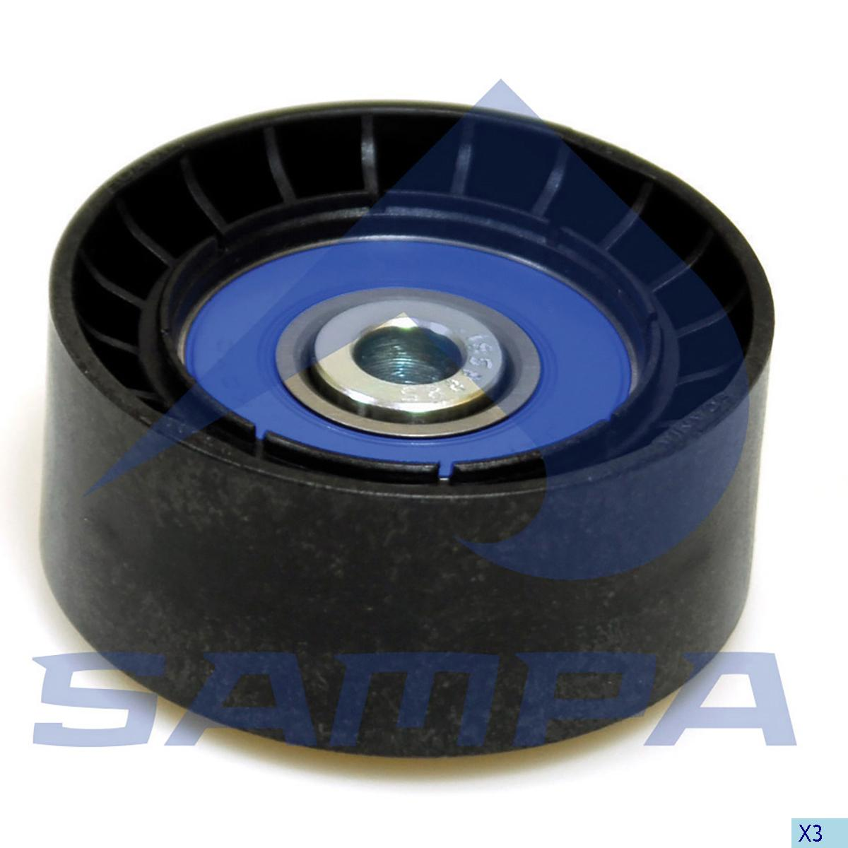 Tension Roller, Fan, Scania, Engine