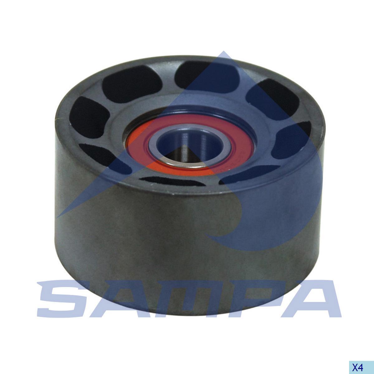 Tension Roller, Fan, Scania, Engine
