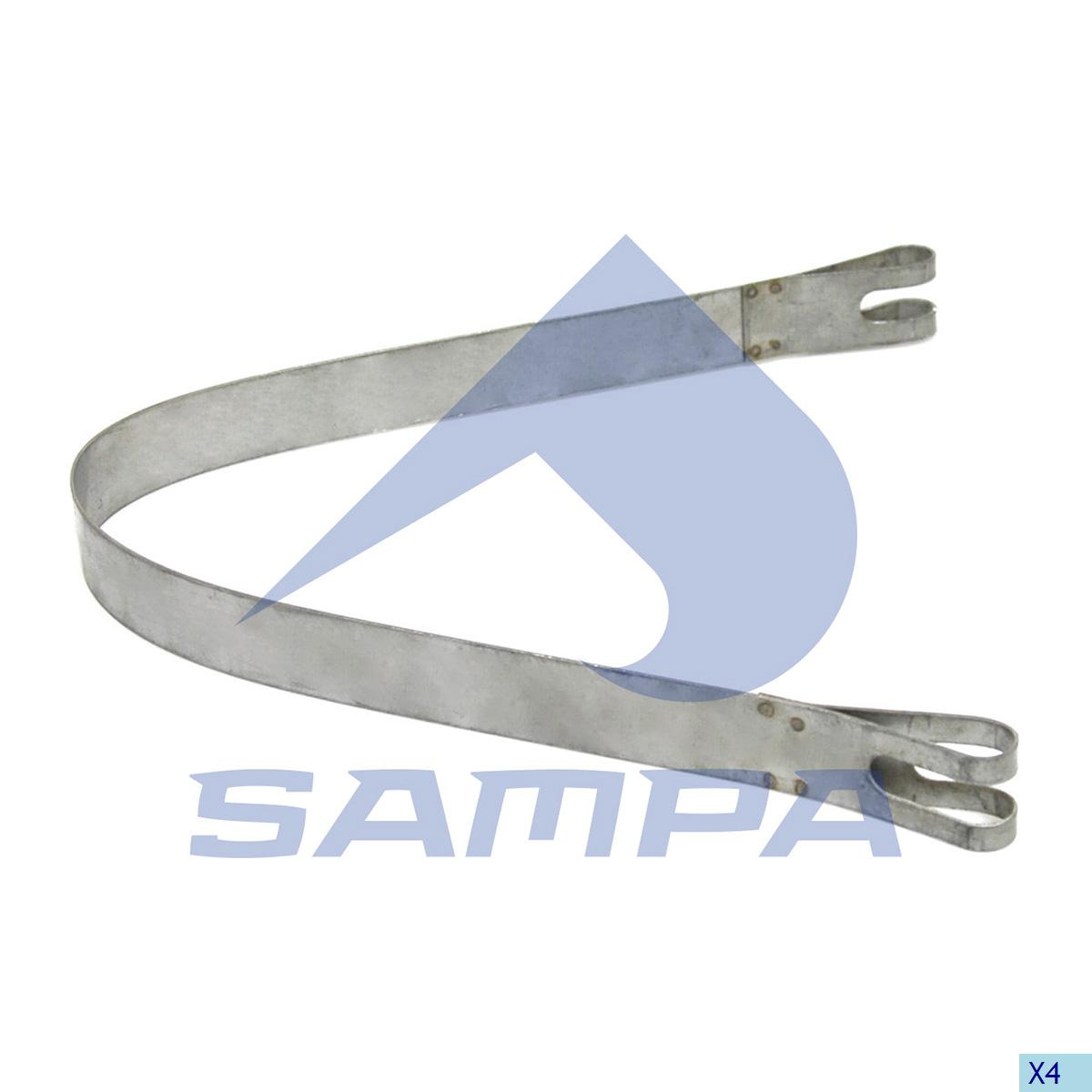 Strap, Exhaust, Scania, Engine