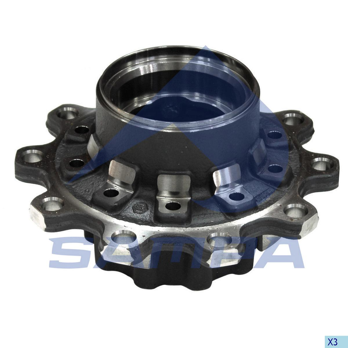 Wheel Hub, Scania, Power Unit