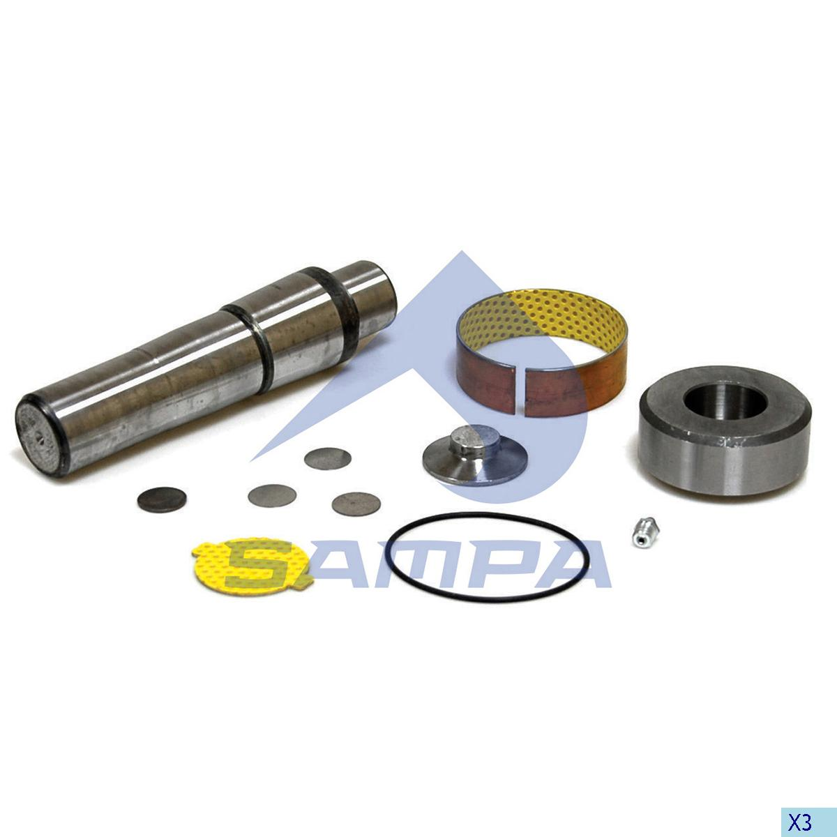 King Pin Kit, Axle Steering Knuckle, Scania, Power Unit