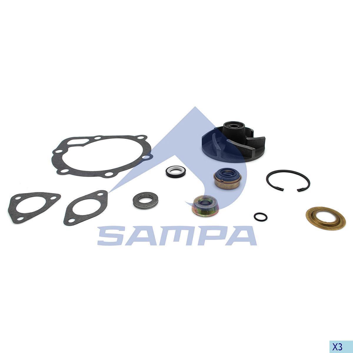 Repair Kit, Water Pump, Scania, Engine