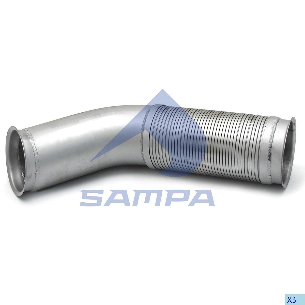 Flexible Pipe, Exhaust, Scania, Engine