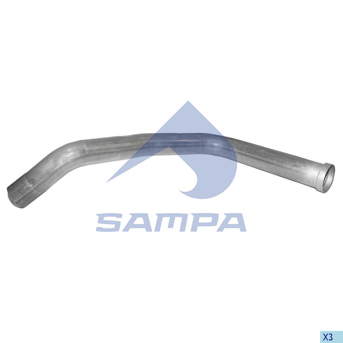 Pipe, Exhaust, Scania, Engine