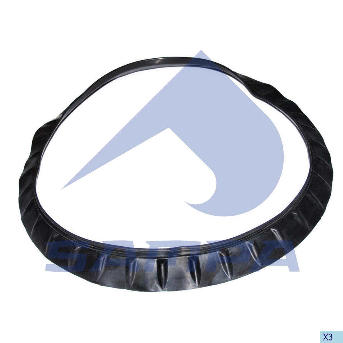 Rubber Ring, Fan, Scania, Engine