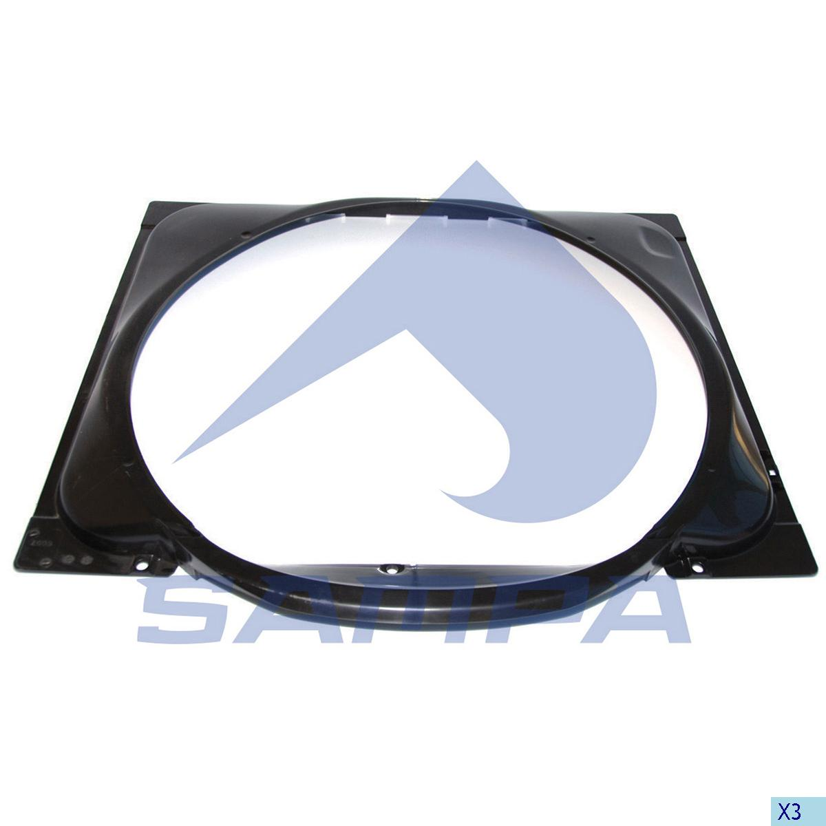 Shroud, Fan, Scania, Engine