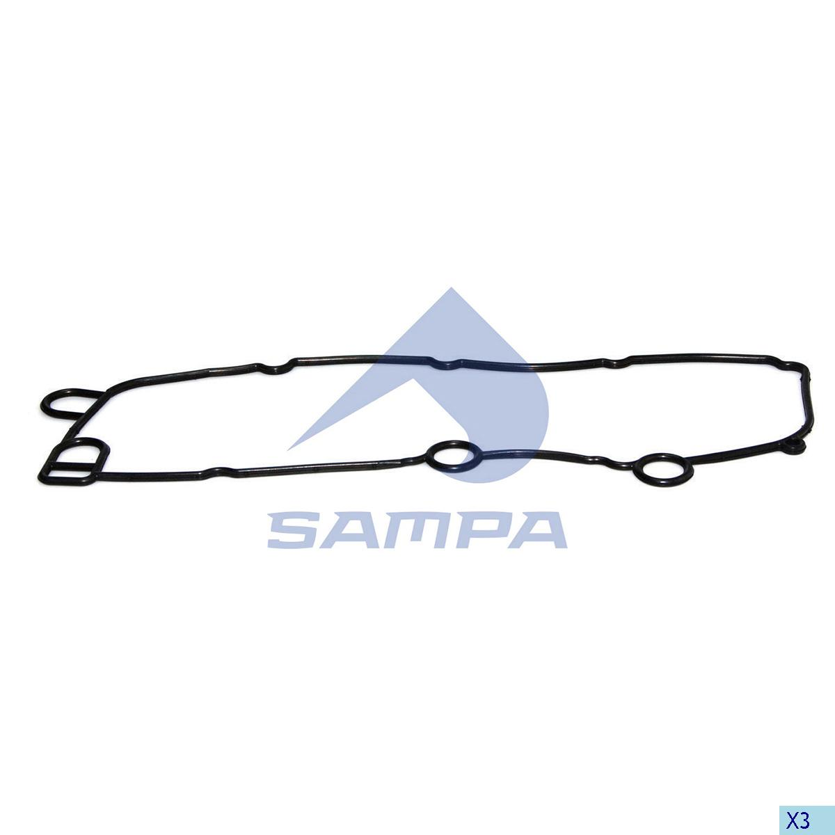 Gasket, Oil Cooler, Scania, Engine