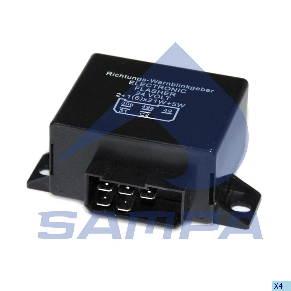 Flasher Relay, Central Electric Unit, Scania, Electric System