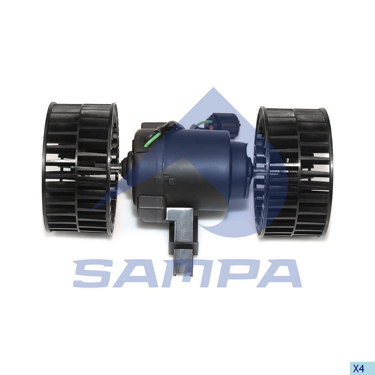 Fan Motor, Cab Heating & Ventilation, Scania, Cab