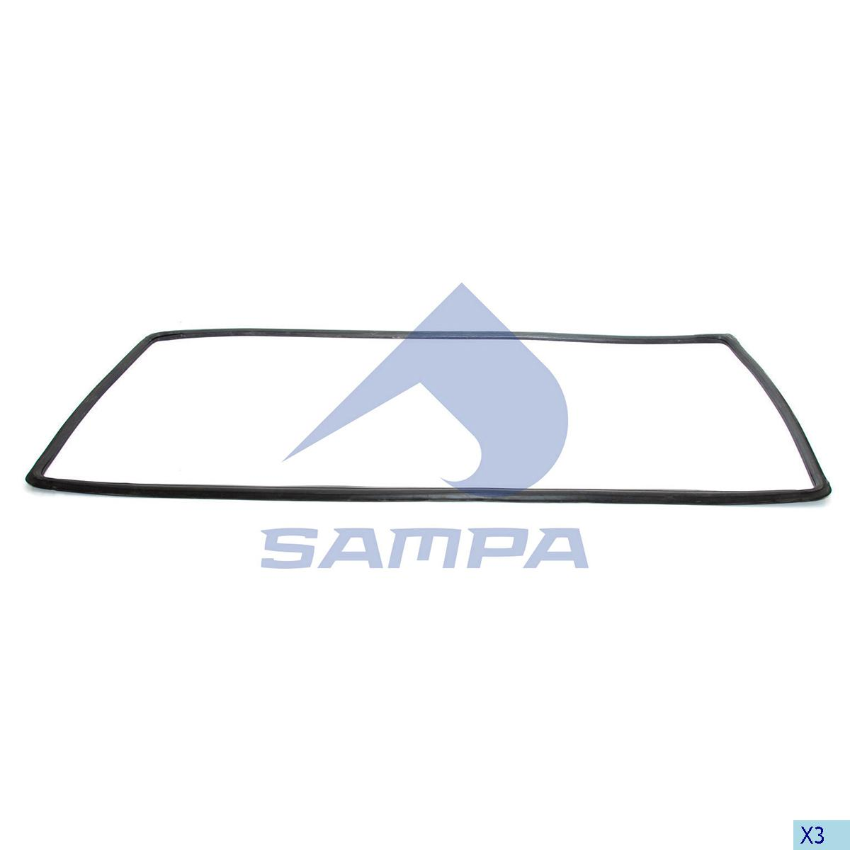 Strip, Windscreen, Scania, Cab