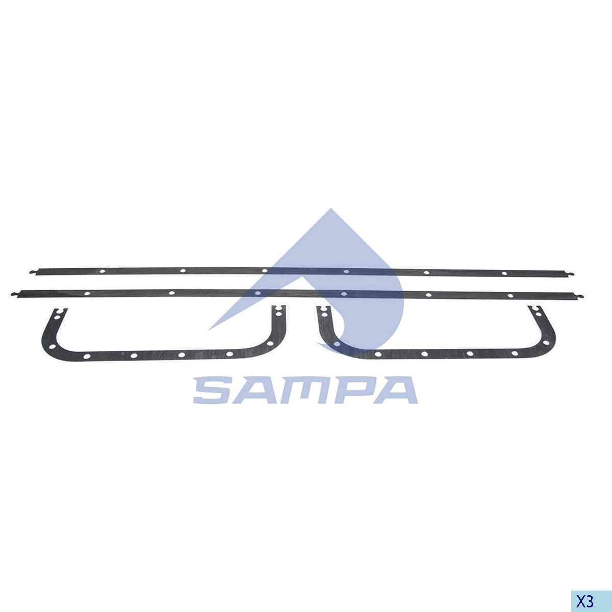 Gasket, Oil Sump, Scania, Engine