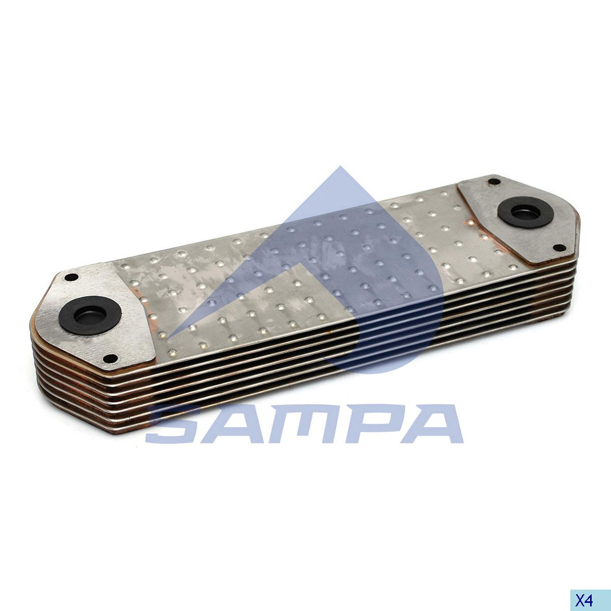 Oil Cooler, Scania, Engine