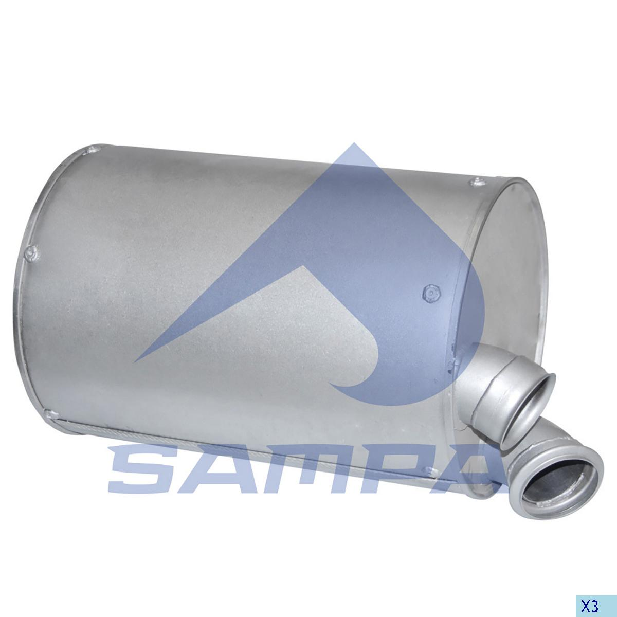 Silencer, Exhaust, Daf, Engine