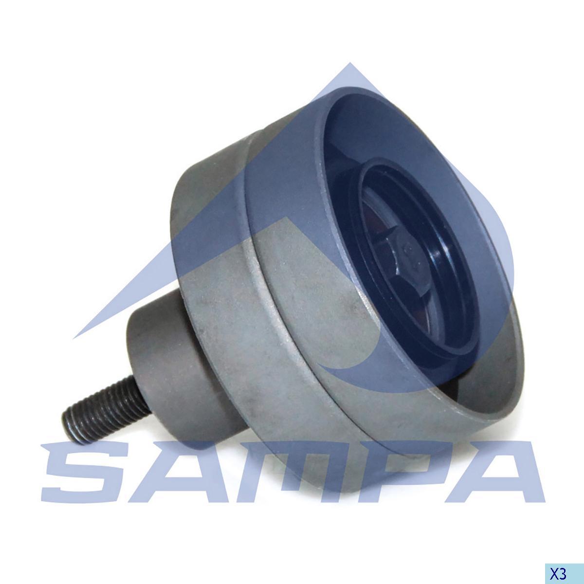 Tension Roller, Fan, Daf, Engine
