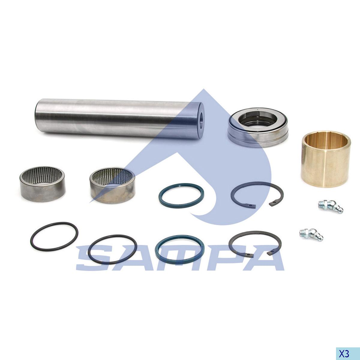 King Pin Kit, Axle Steering Knuckle, Daf, Power Unit