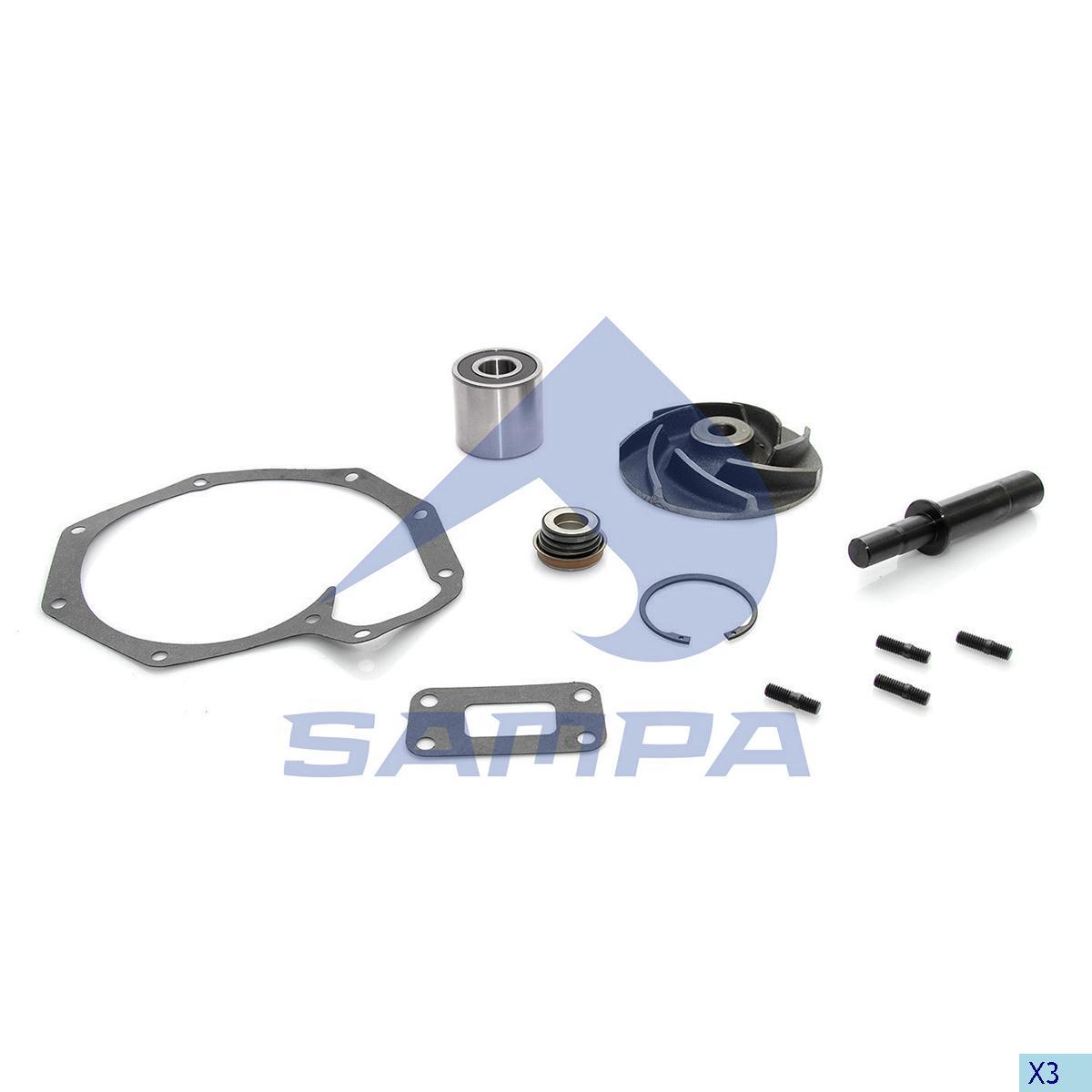 Repair Kit, Water Pump, Daf, Engine