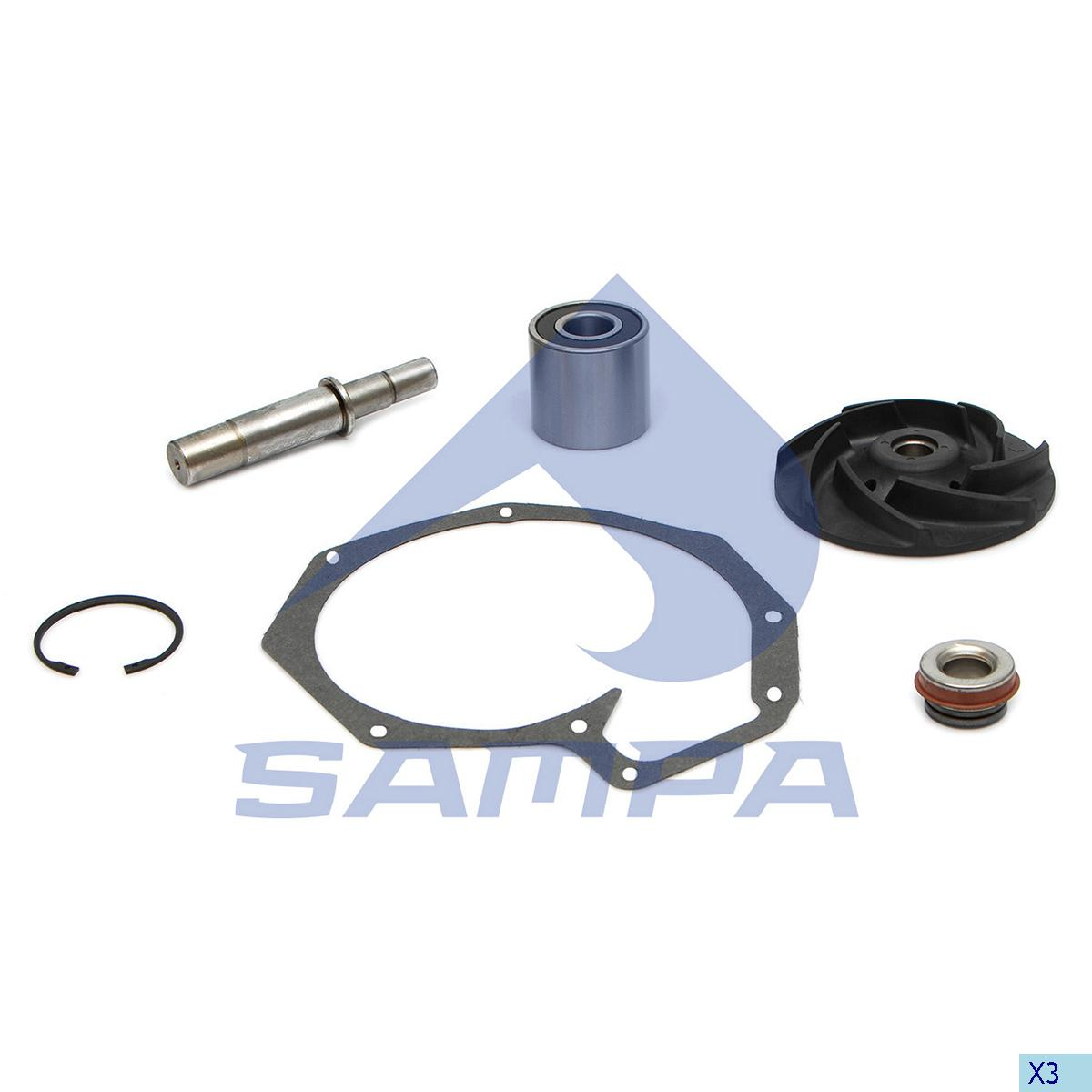 Repair Kit, Water Pump, Daf, Engine