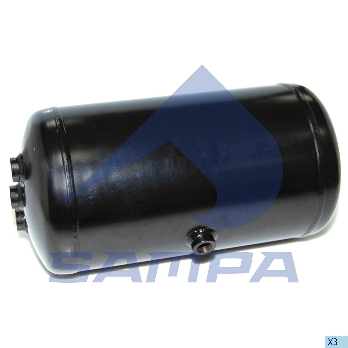 Air Tank, Mercedes, Compressed Air System
