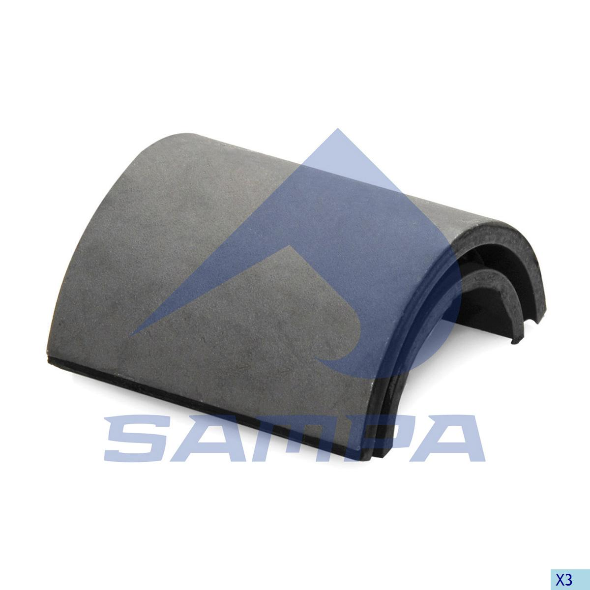 Half Bearing, Stabilizer Bar, Iveco, Suspension