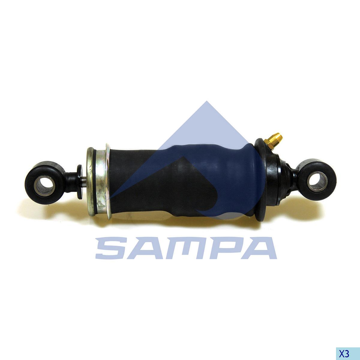 Shock Absorber, with Air Bellow, Cab, Iveco, Cab