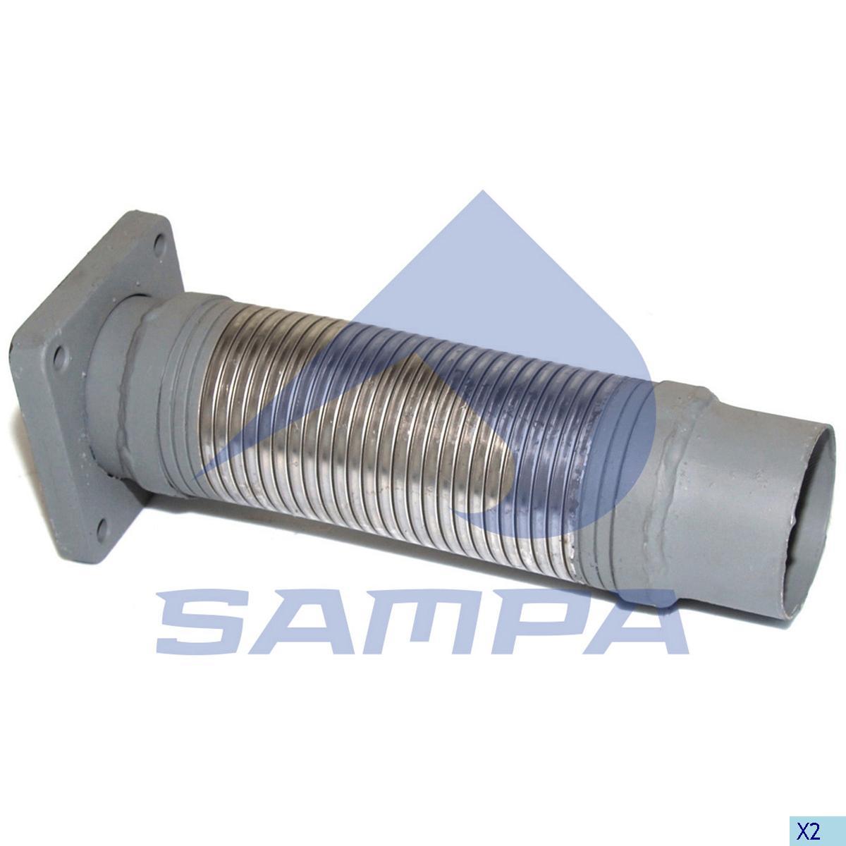 Flexible Pipe, Exhaust, Iveco, Engine