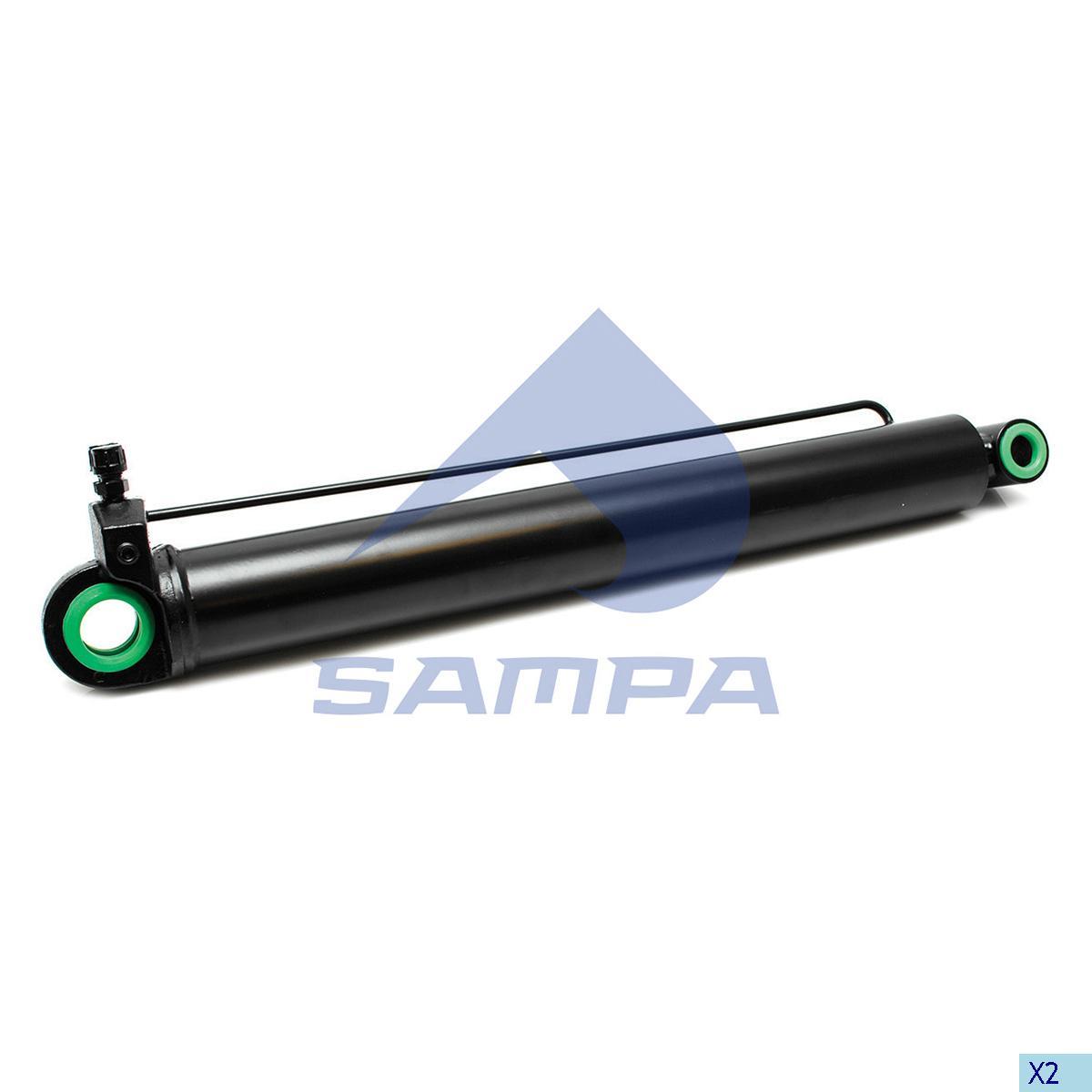 Cylinder, Cab Tilt, Iveco, Cab