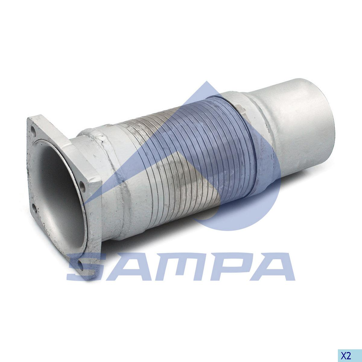 Flexible Pipe, Exhaust, Iveco, Engine