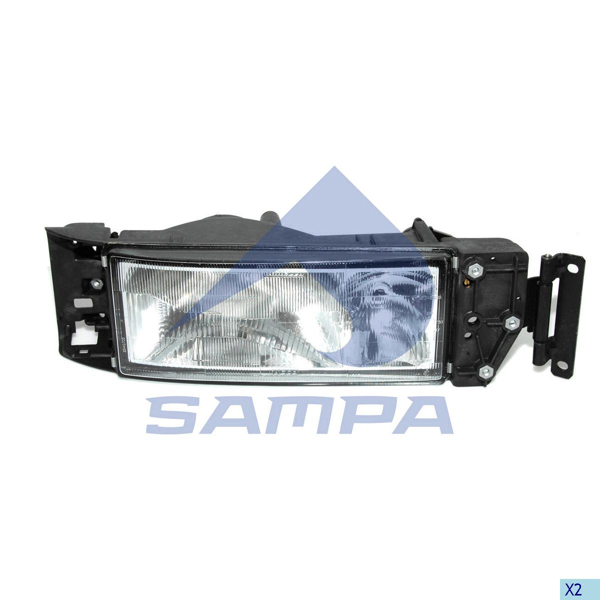 Head Lamp, Iveco, Electric System